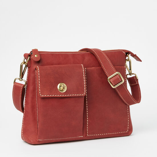 Roots-Leather Crossbody-The Villager Tribe-Paprika-A