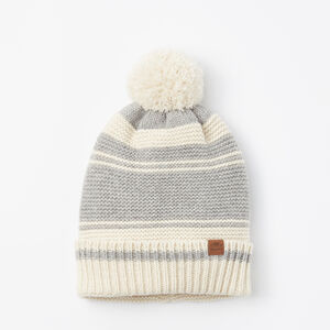 Roots-Women Hats-Carli Pom Pom Toque-Grey Mix-A