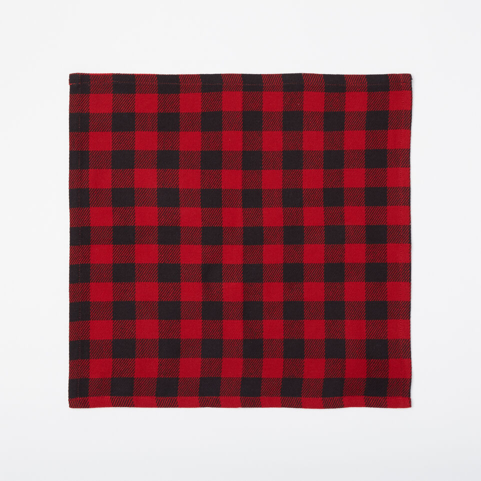Roots-undefined-Buffalo Plaid Napkins 4 Pack-undefined-A