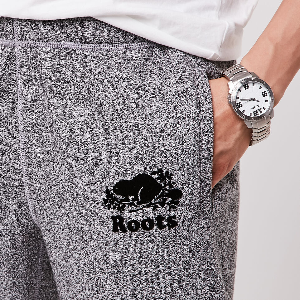 Roots-undefined-Pantalon en coton ouaté original sel et poivre Roots - Long-undefined-C