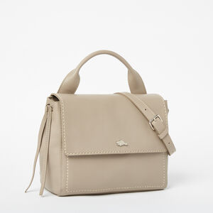 Roots-Leather Crossbody-Bella Bag Bridle-Pearl Grey-A