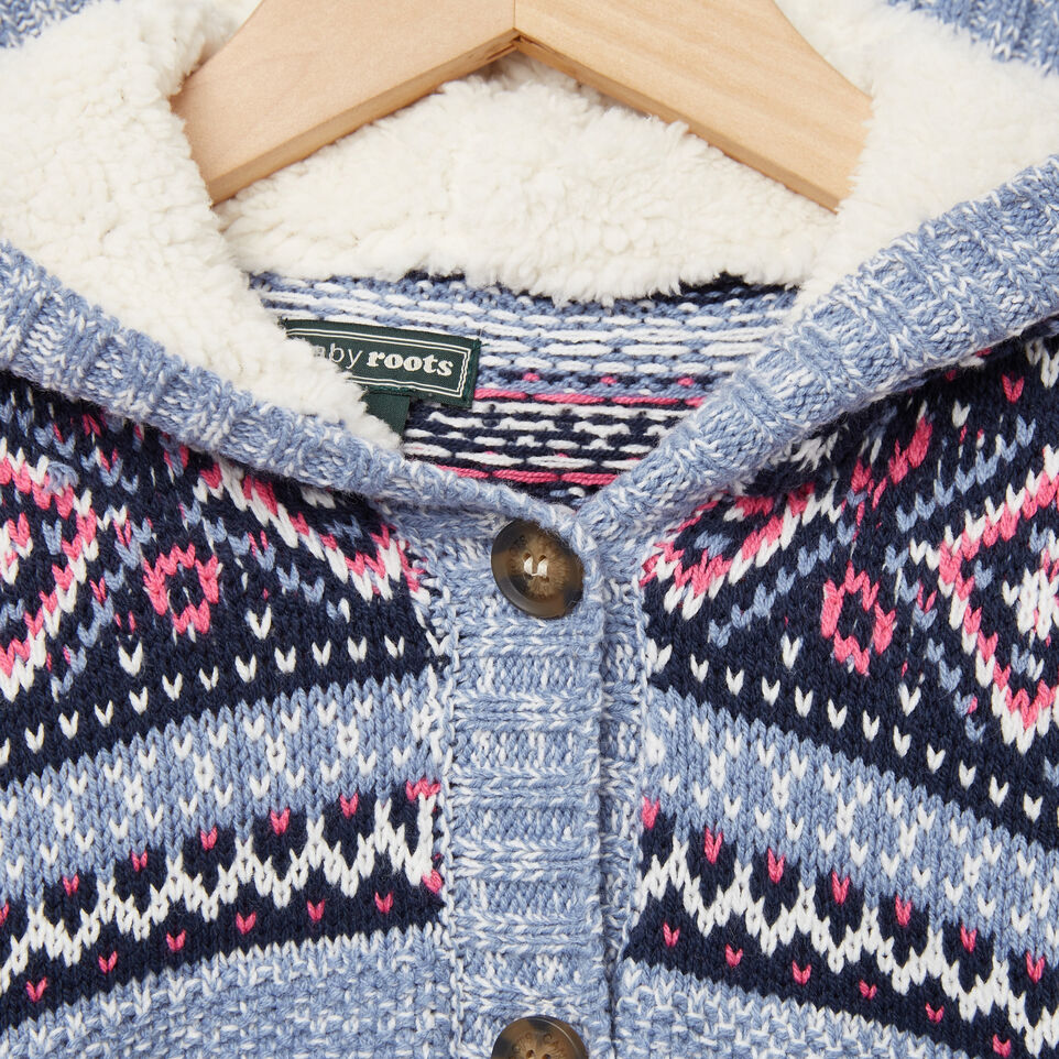 Baby Fair Isle Hooded Sweater | Roots