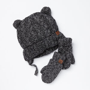 Roots-Kids Accessories-Toddler Winter Fox Gift Set-Black Fox-A