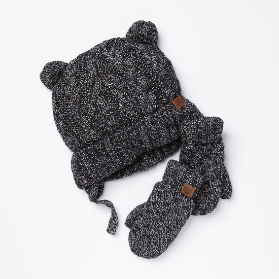 Roots-Kids New Arrivals-Toddler Winter Fox Gift Set-Black Fox-A