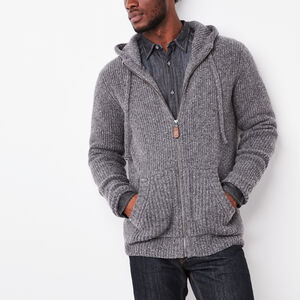 Roots-Men Sweaters & Cardigans-Revelstoke Hoody-Quarry Mix-A
