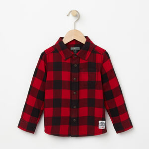 Roots-Gifts Mini Me-Toddler Algonquin Flannel Shirt-Lodge Red-A