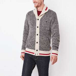 Roots-Men Sweaters & Cardigans-Roots Cabin Cardigan-Grey Oat Mix-A