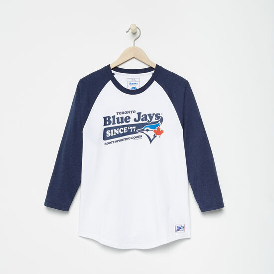 Roots-Men Toronto Blue Jays™-Mens Blue Jays Ballpark Baseball T-shirt-White-A