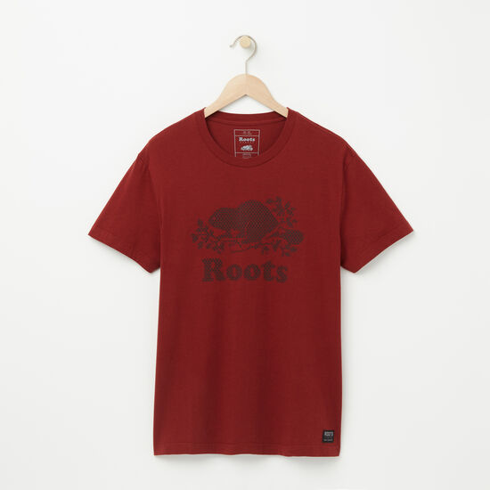 Roots-Men Graphic T-shirts-Cooper Maple T-shirt-Madder Brown-A