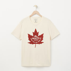Roots-Sale Men-Springbank Organic T-shirt-Birch White-A