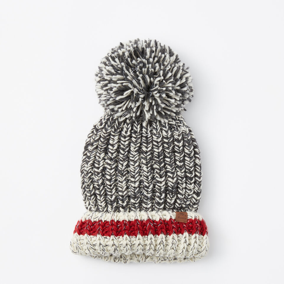 Roots-undefined-Chunky Cabin Pom Pom Toque-undefined-A