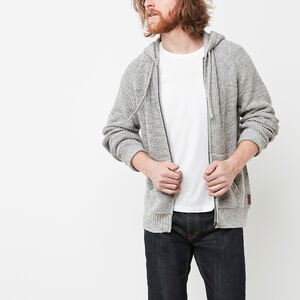 Roots-Men Sweaters & Cardigans-Silver Lake  Zip Sweater-Grey Mix-A