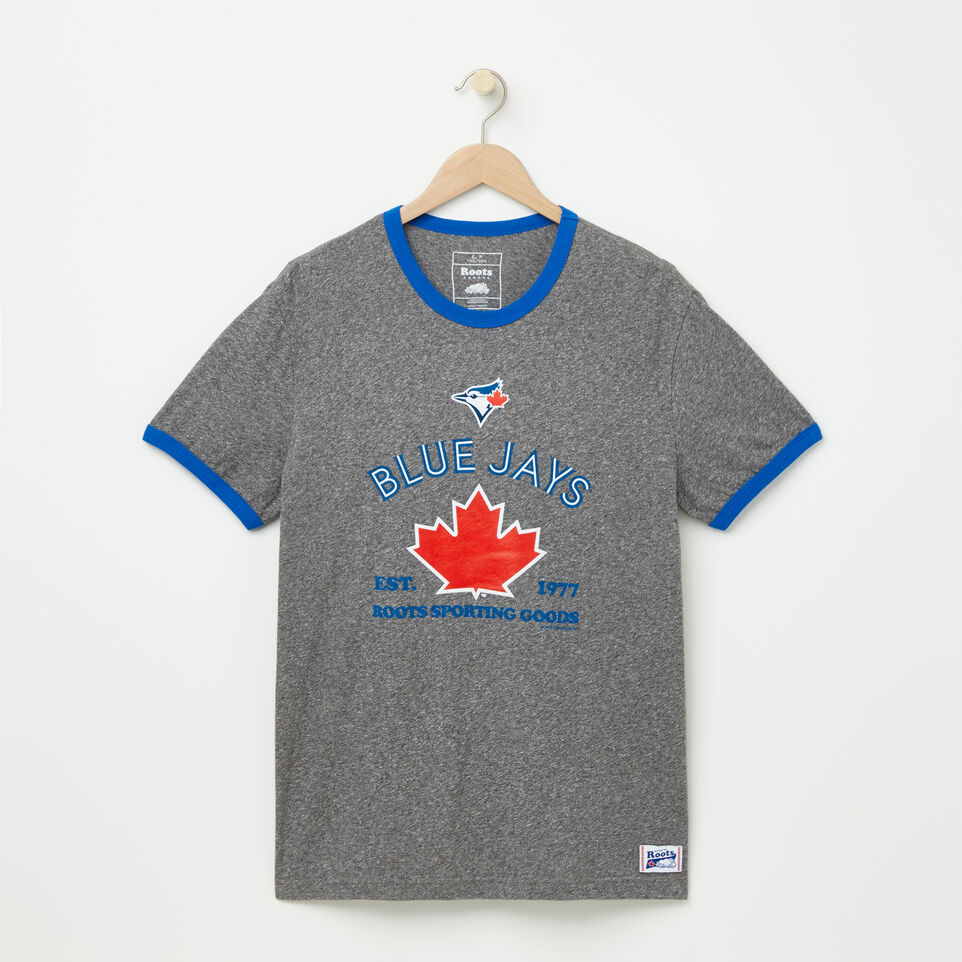 Roots-undefined-Mens Blue Jays Maple Ringer T-shirt-undefined-A