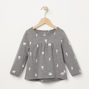 Roots-Kids Toddler Girls-Toddler Maple Valley Top-Medium Grey Mix-A