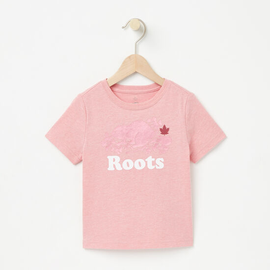 Roots-Kids New Arrivals-Toddler Beaver Maple Leaf T-shirt-Bridal Rose Mix-A