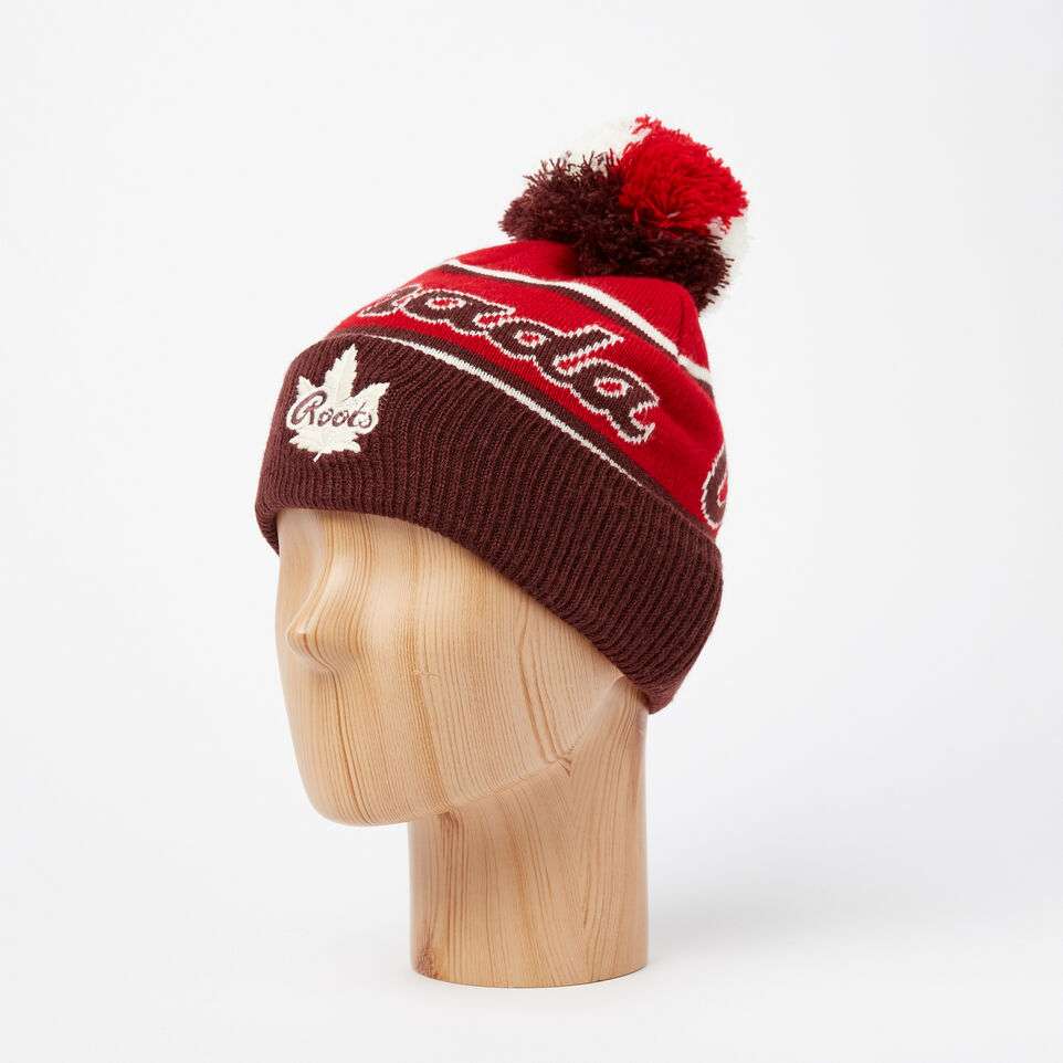 Roots-undefined-Kids Canada Heritage Pom Pom Toque-undefined-B