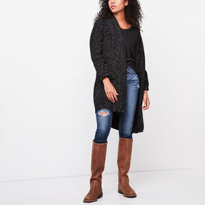 Roots-Gifts For Her-Marlowe Cardigan-Black Polar Fox-A