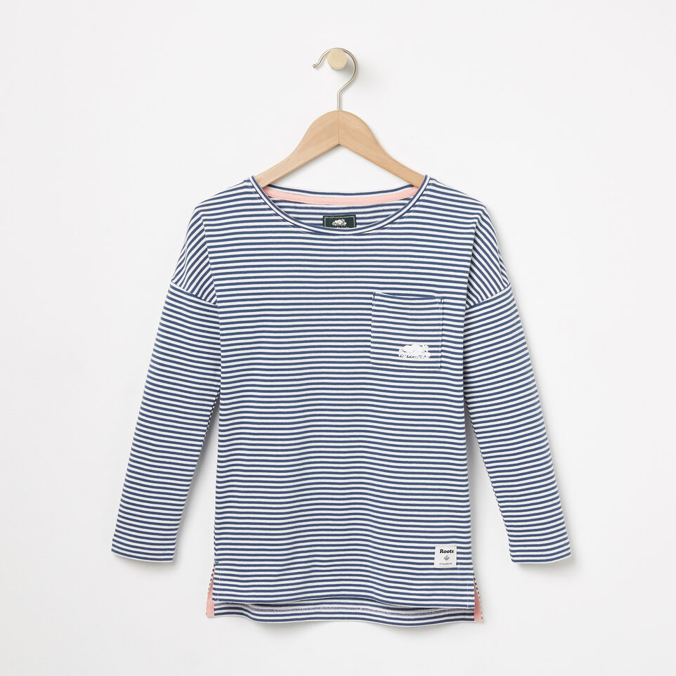 Roots-undefined-Girls Ava Stripe Top-undefined-A