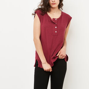 Roots-Sale Women-Highland Henley-Rhododendron-A