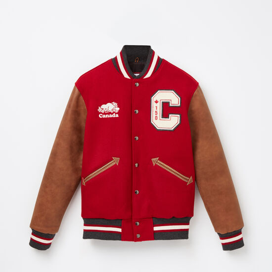 Roots-Men Award Jackets-Canada 150 Jacket Tribe-Red-A