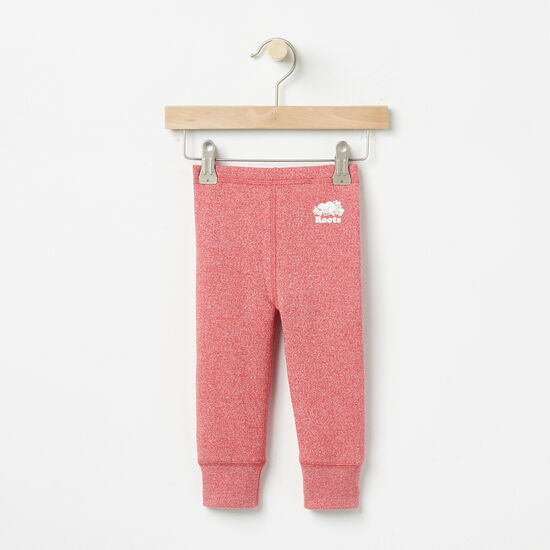 Roots-Kids Bottoms-Baby Roots Original Cozy Legging-Baroque Rose Pepper-A
