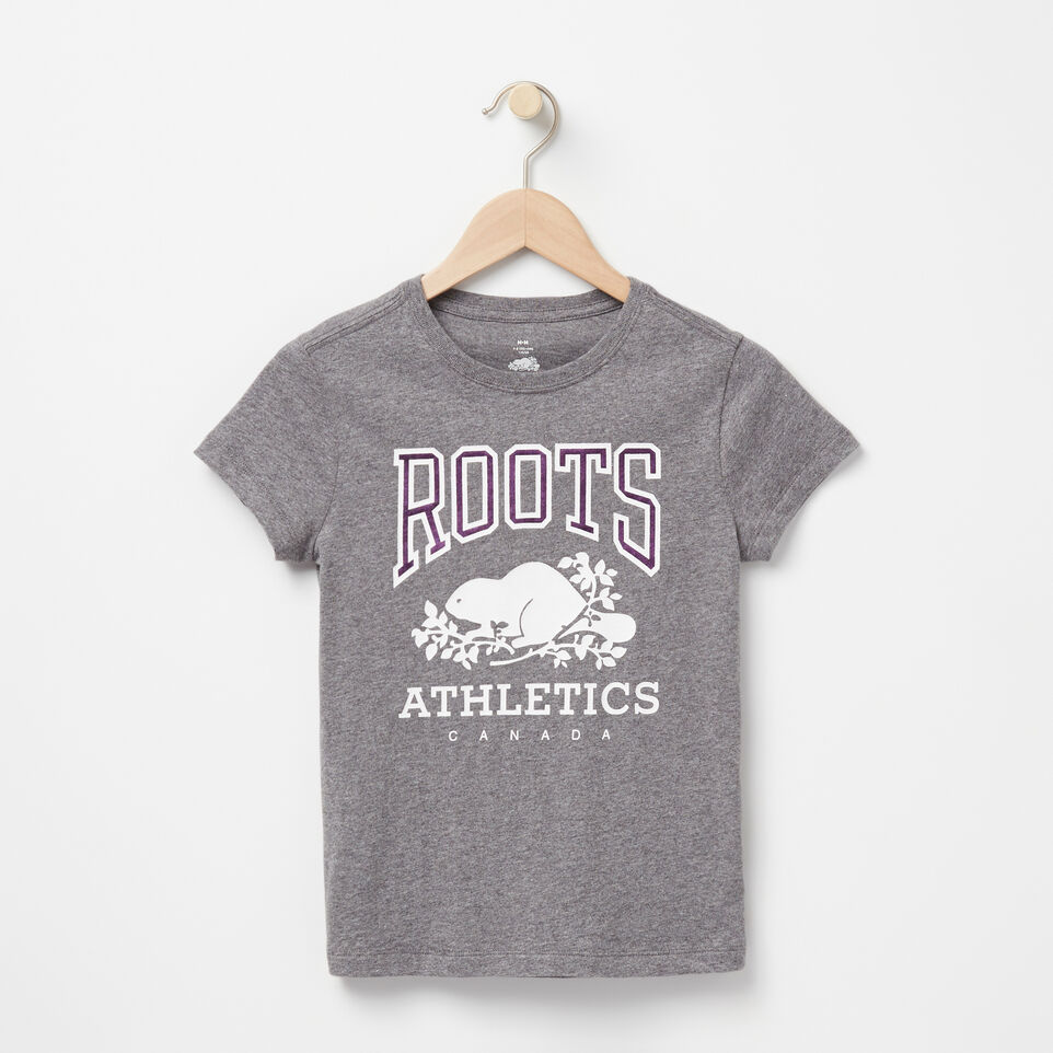 Roots-undefined-Filles T-shirt Métallique RBA-undefined-A