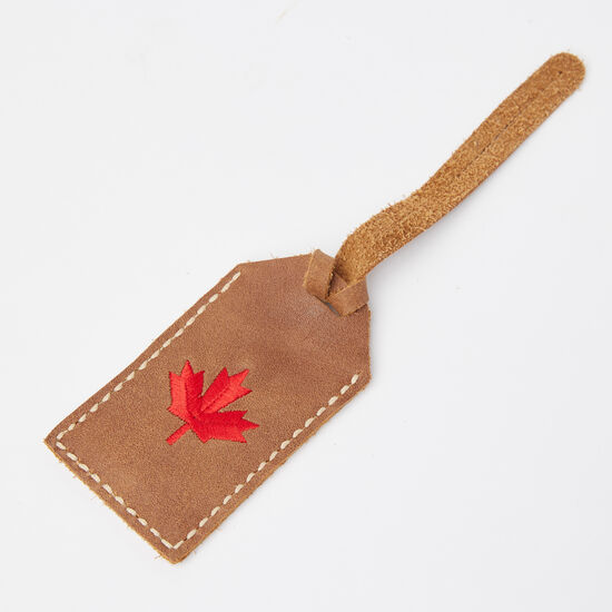 Roots-Men Leather-Maple Leaf Luggage Tag Tribe-Africa-A