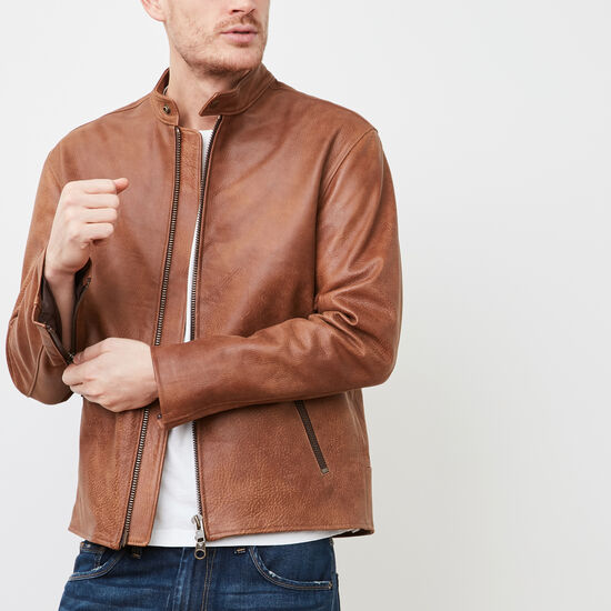 Roots-Leather Leather Jackets-Keith Jacket Tribe-Africa-A
