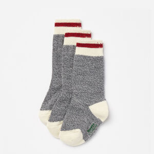 Roots-Gifts For Kids-Kids Cabin Sock 3 Pack-Grey Mix-A