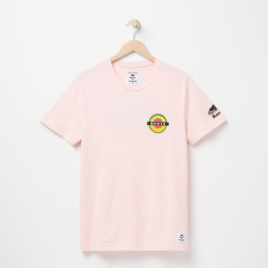 Roots-Men Bestsellers-Mens Patches Graphic T-shirt-Silver Pink-A