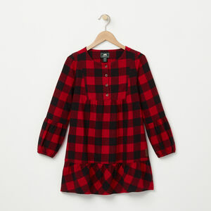 Roots-Kids Tops-Girls Algonquin Dress-Lodge Red-A