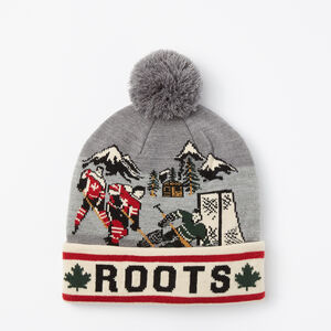 Roots-Men Hats-Outdoor Hockey Toque-Medium Grey Mix-A