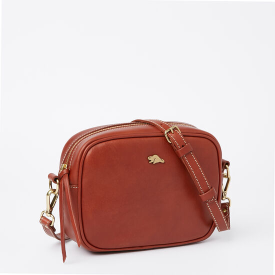 Roots-Leather Vegetable Tanned Leather-Lorna Bag Veg-Oak-A