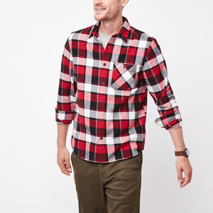 Roots-Men Plaids-Stoney Point Flannel Shirt-Lodge Red-A