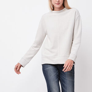 Roots-Women Sweatshirts & Hoodies-Fawn Mock Neck Top-Grey Mix-A
