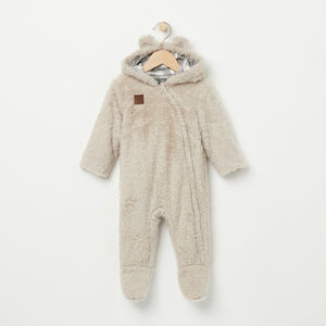 Roots-Kids Rompers & Onesies-Baby Bunting Suit-Cabin Sock Beige-A