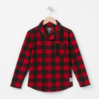 Roots-undefined-Boys Roots Micro Fleece Button Up PJ Set-undefined-C