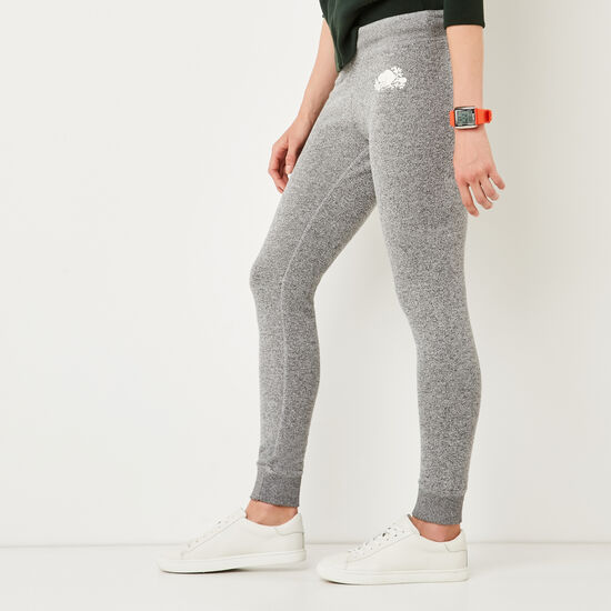 Roots-Women Skinny Sweatpants-Cozy Fleece Skinny Sweatpant-Salt & Pepper-A