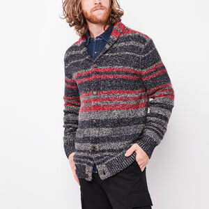 Roots-Men Sweaters & Cardigans-Norquay Cardigan-Grey Oat Mix-A