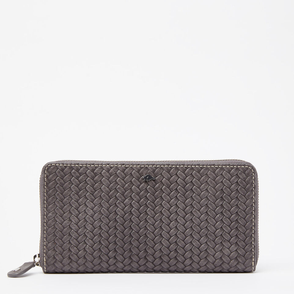Roots-undefined-Zip Around Wallet Woven-undefined-A