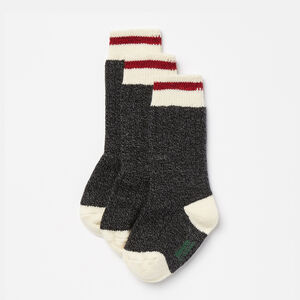 Roots-Gifts For Kids-Kids Cabin Sock 3 Pack-Black-A