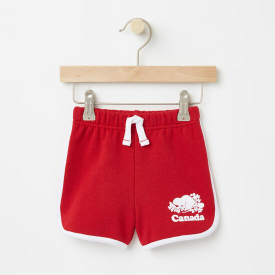 Roots-Sale Baby-Baby Cooper Canada Shorts-Sage Red-A