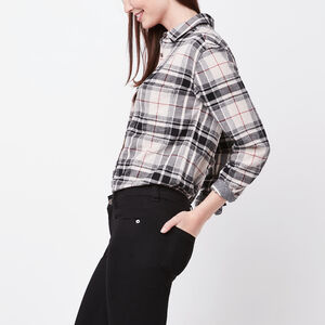 Roots-Women Plaids-Magnolia Shirt-Flaxseed Mix-A
