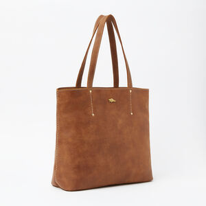 Roots-Leather Totes-Downtown Zip Tote Tribe-Africa-A