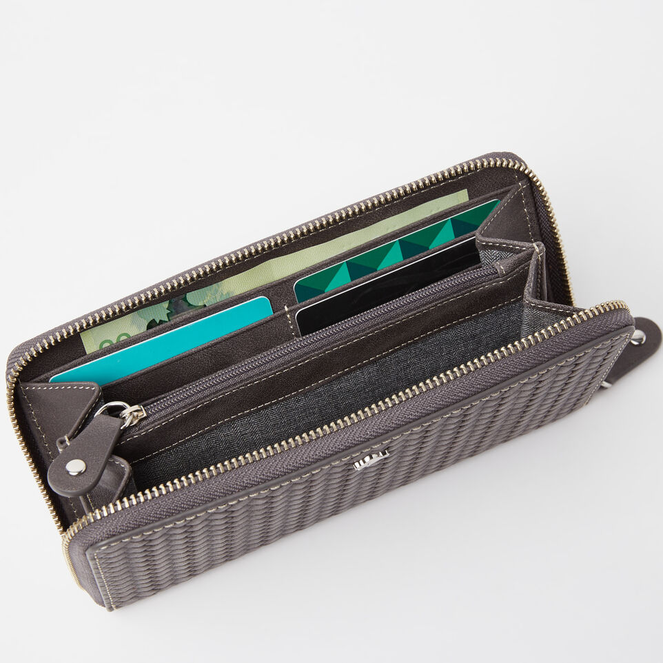 Roots-undefined-Zip Around Wallet Woven-undefined-B