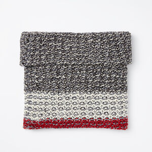 Roots-Women The Roots Cabin Collection™-Chunky Cabin Snood-Salt & Pepper-A