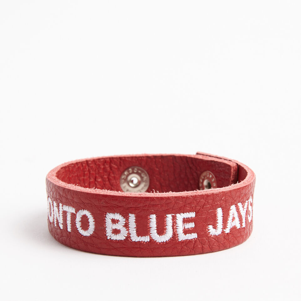 Roots-undefined-Blue Jays Leather Bracelet-undefined-B