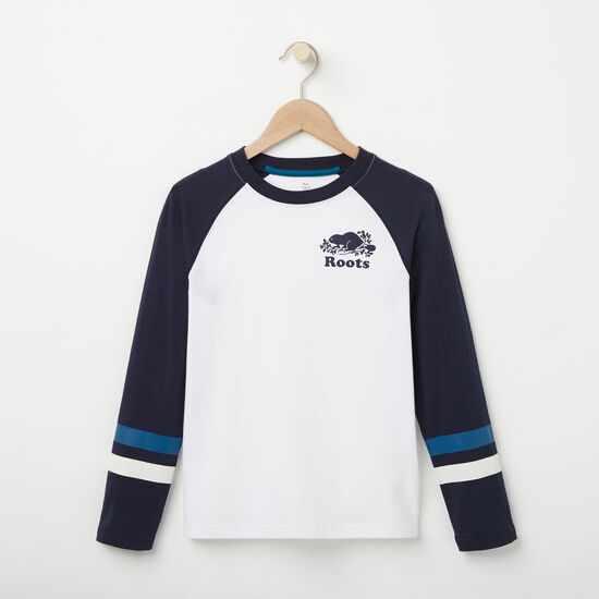 Roots-Kids New Arrivals-Boys Riley Baseball Top-White-A