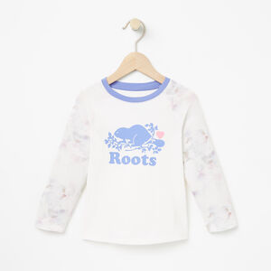 Roots-Kids Toddler Girls-Toddler Watercolour Baseball Top-Cloudy White-A