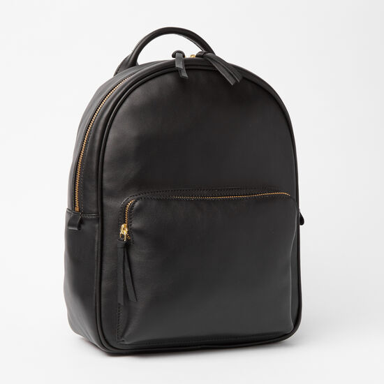 Roots-Leather Backpacks-Chelsea Pack Box-Black-A